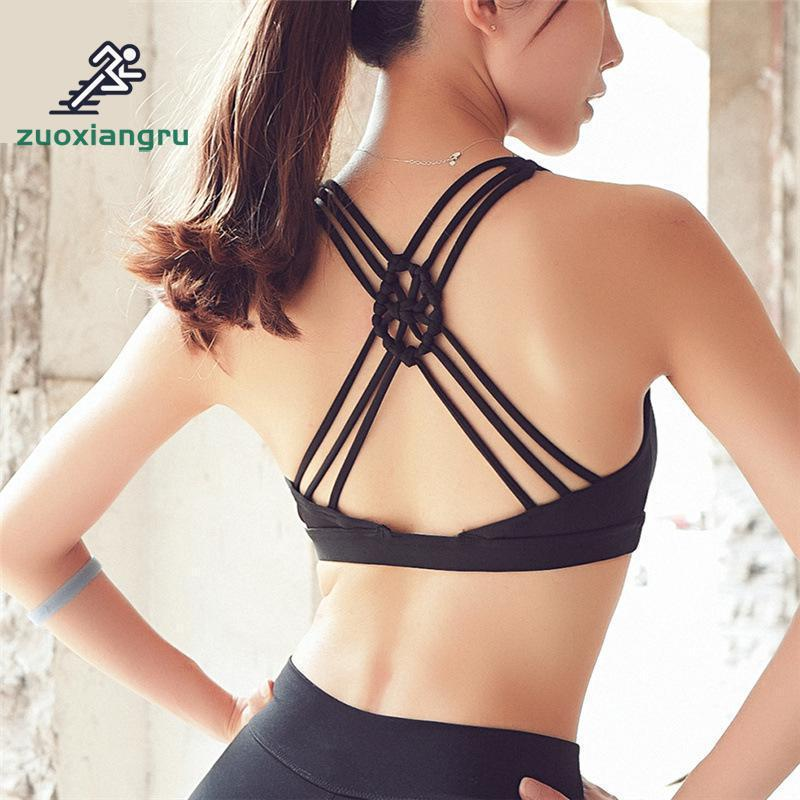 724e15c891 2019 Zuoxiangru Sexy Sports Bras For Women Running Fitness Vest Popular Sport  Bra Back Hollow Out Shockproof Seamless Yoga Bra From Annuum