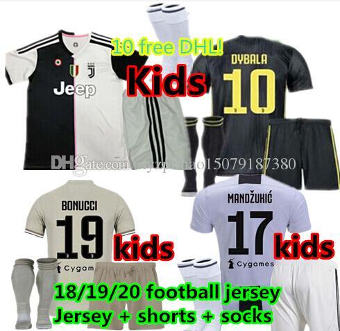 40504ad2c 2019 Children S Jersey! 18 19 20 Juventus Kids Kit Football Jerseys Home  Away 3RD Juventus 2019 2020 Ronaldo MANDZUKIC DYBALA MARCHISIO Adult Foo  From ...