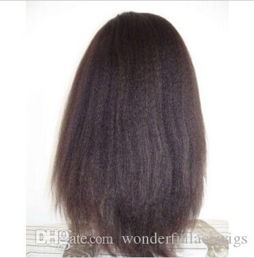 Синтетические кружева фронт парик прямой Яки черный/коричневый на складе термостойкие натуральный волосяного покрова черный женщин кружева фронт