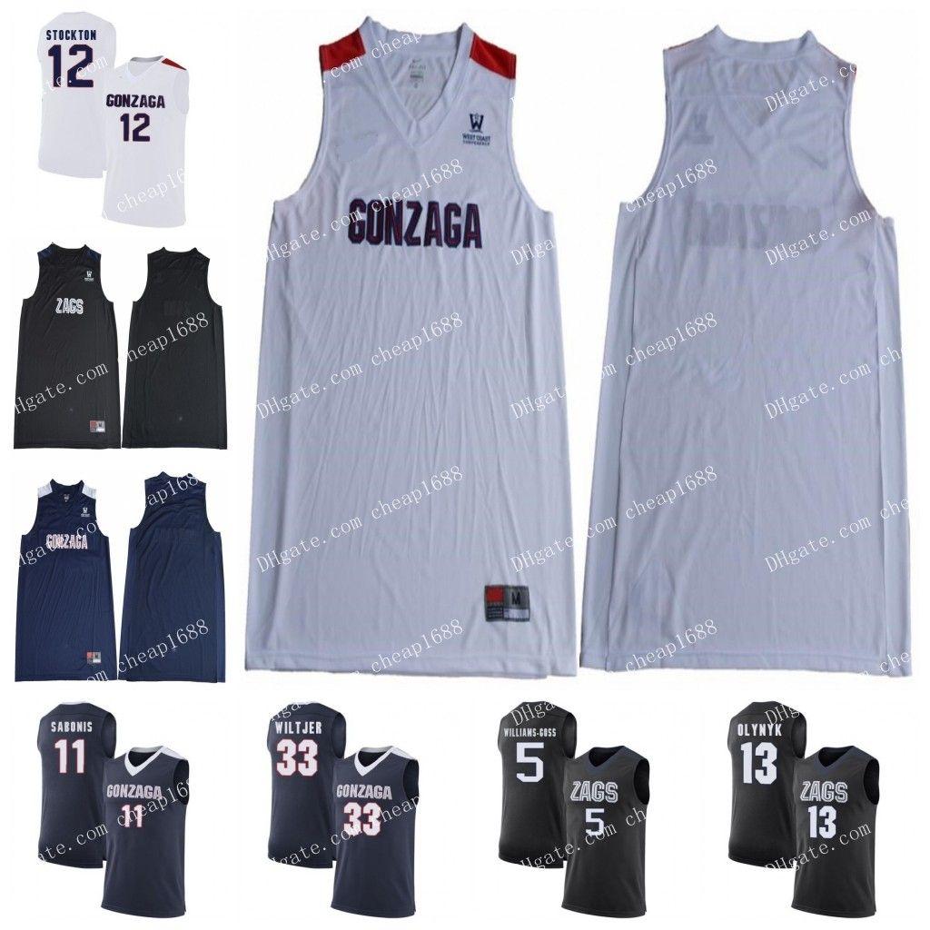 4dffb61299f 2019 NCAA Gonzaga Bulldogs 4 Greg Foster Jr 21 Rui Hachimura 22 Jeremy  Jones 24 Corey Kispert 10 Matthew Lang Stitched College Basketball Jersey  From ...