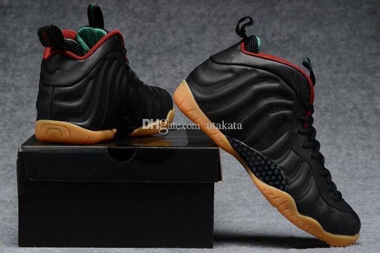 2018 Ucuz En Iyi Basketbol Ayakkabıları Penny Hardaway Erkek Spor Sneakers Köpük Bir Patlıcan Mor Mens Basket topu Ayakkabı konfor ve destek