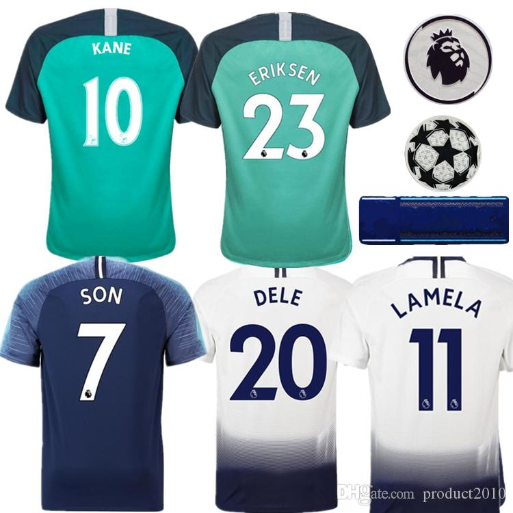 11a595205 ... discount 2018 top thai quality spurs adults football jersey home 10 kane  dele son 2018 2019