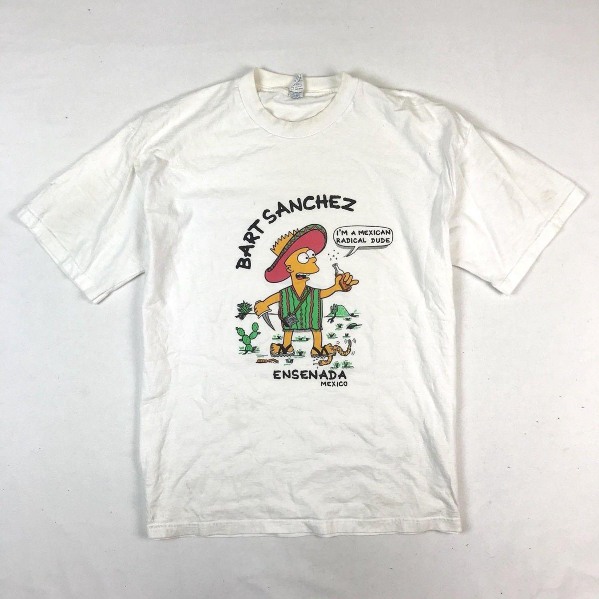 90 s Vintage The Bootleg Bart Sanchez Mexico Tshirt Men T-Shirt Free  Shipping discount Top Tees Male Hip Hop funny T Shirts