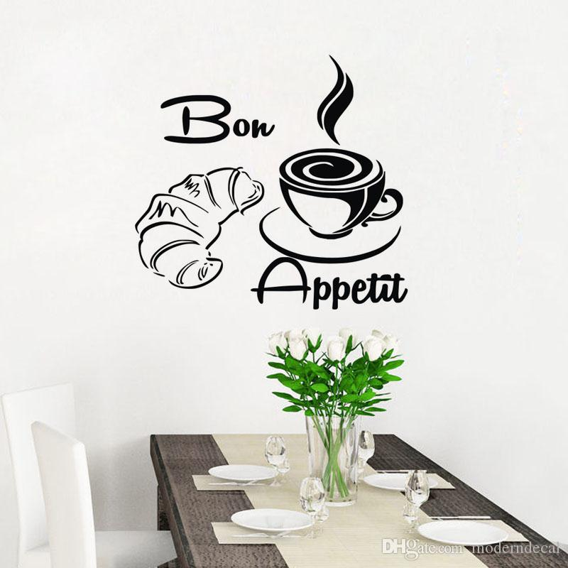 Bon Appetit Bread Coffee Wall Stickers Decor For The Kitchen Tile