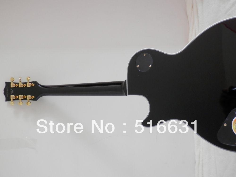 Envío gratis nuevo estilo negro color lp CUSTOM Electric Guitar 3 pickup con