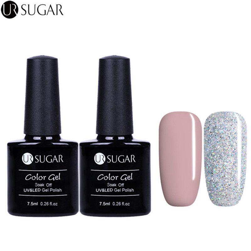 Ur Sugar Nail Art Diy Soak Off Gel Uv Led Gel 7.5ml Nail Enamel Nude ...
