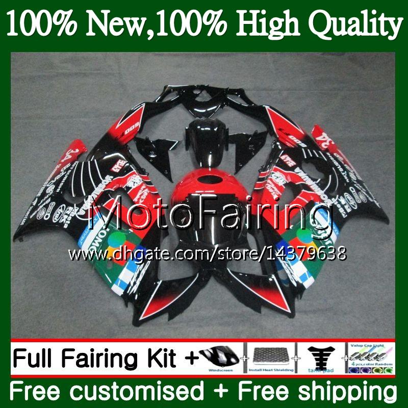 Body For HONDA CBR600RR F3 CBR600FS CBR 600 F3 97 98 48MF16 CBR 600F3 FS CBR600F3 CBR600 F3 1997 1998 Fairing Bodywork kit JOMO Red blk