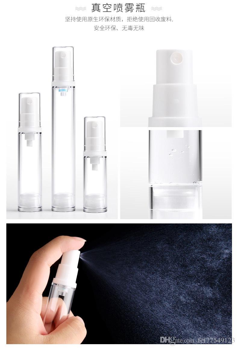 TAMAX PF007 Vacío transparente Airless Pump Cosmetic Bottle Travel Mini Loción Crema perfume Botellas Vacío Artículos de tocador Contenedor 2018