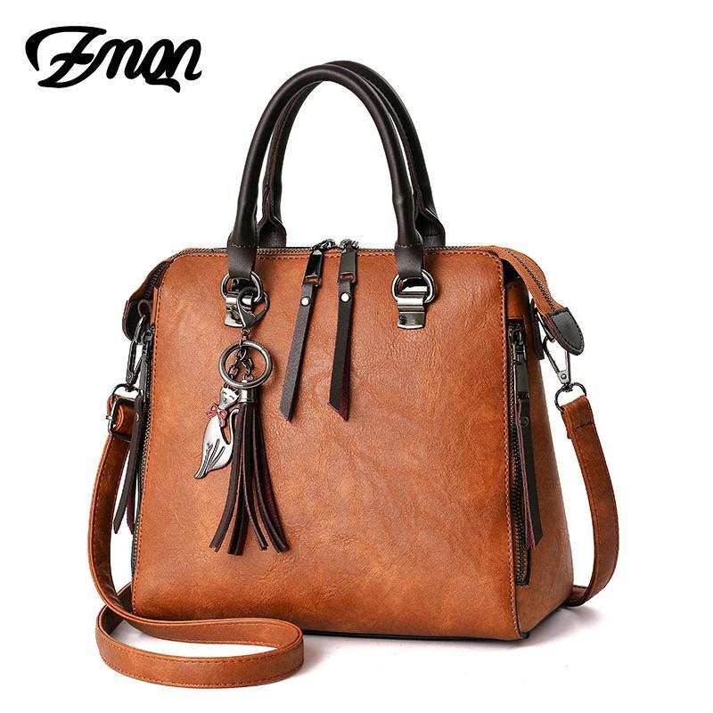 fd30be956ebe Shoulder Bags Women Leather Designer Handbags Ladies Hand Crossbody Bag For  Women Famous Brand Vintage Fringed Zipper Shell C619 Satchel Handbags Ladies  ...