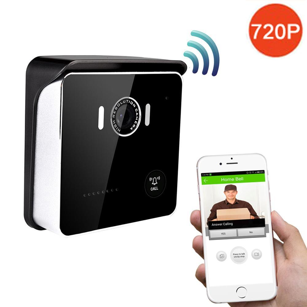720P WIFI Video Doorbell Camera HD 120 Degree Lens Two-way Audio For iOS  Android Phone Wireless Door Bell Night Vision for IOS Android Phone