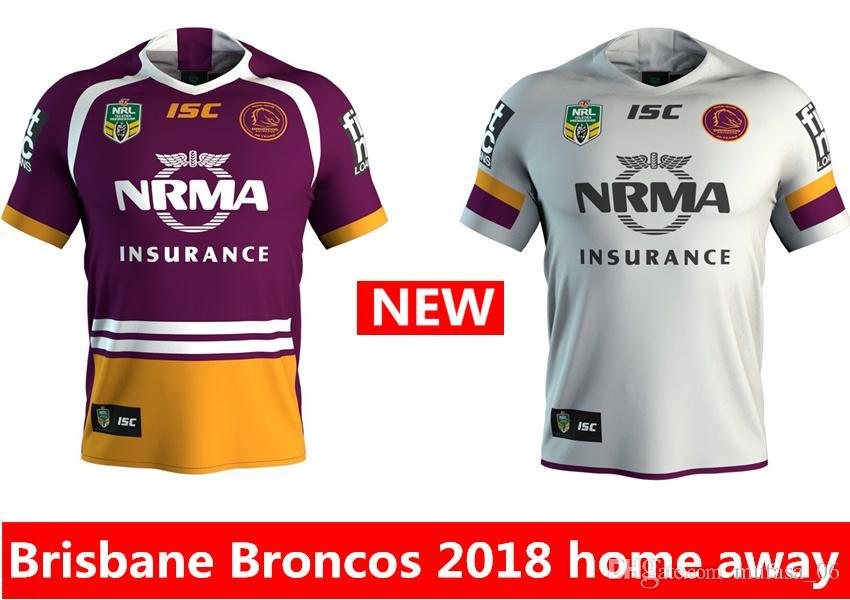 Hot Sales Brisbane Broncos 2018 2019 Home Away Rugby Jerseys NRL ... e61c77690
