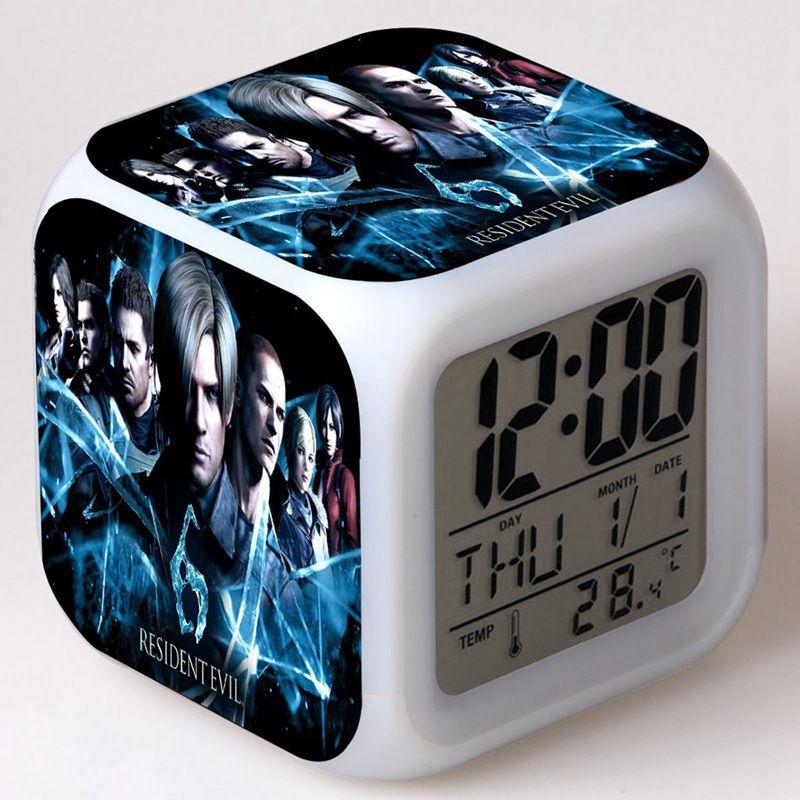 Coloring for Kids kids color changing alarm clock : Movie Resident Evil Alarm Clock Reloj Kids Clock Cartoon Changing ...