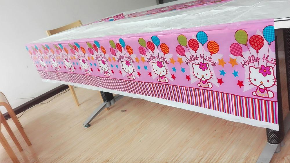 Whole 108 180cm Disposable Plastic Okitty Table Cloth Birthday Party Supplies For Kids Event Decoration Cartoon Theme 1 Banquet Linens
