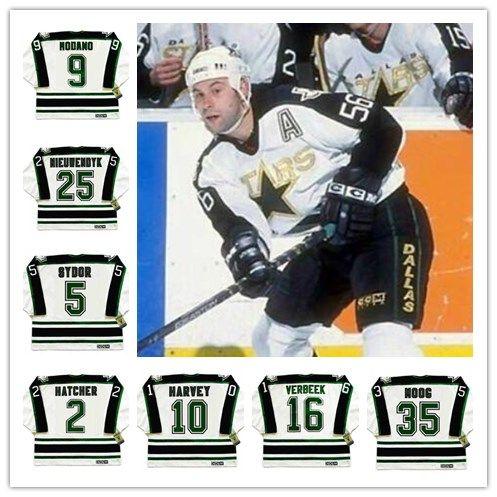 76e63decb 2019 Men S NEAL BROTEN Dallas Stars DARRYL SYDOR ANDY MOOG PAT VERBEEK TODD  HARVEY BRETT HULL CCM Vintage Retro Hockey Jersey From Gamemen
