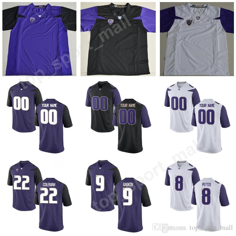 official photos a24d0 2f6b0 Men Washington Huskies Youth 9 Myles Gaskin Jersey College Football 8 Dante  Pettis 43 Tristan Vizcaino Lavon Coleman Custom Any Name Number