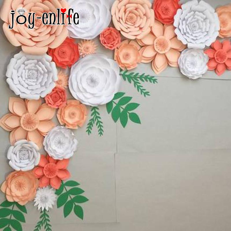 Joy Enlife 2pcs Diy Craft Colorful Paper Flower Wedding Decor Birthday Party Valentine S Day Decorations Event Party Supplies