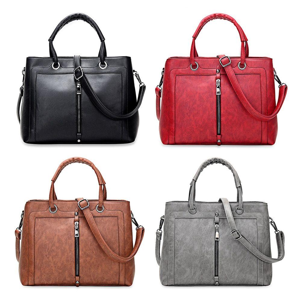 41573fe94ef New Brand Ladies Bag Simple Fashion Handbag Cross Pattern Faux Leather  Shopping Bag Large Shoulder Bag Branded Handbags Designer Handbags Sale  From ...
