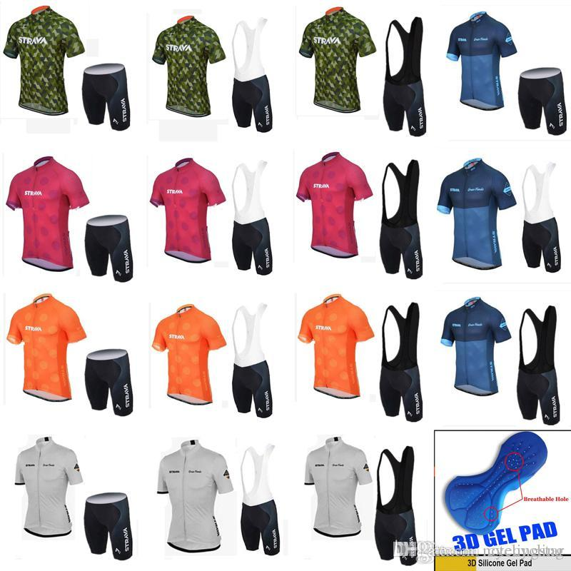 NEW Strava Cycling Jerseys Men Short Style Bike Clothing Set Pro Team  Summer Bicycle Sport Suit Mtb Racing Riding Clothes 18 Styles C1904 Cycling  Jerseys ... a89b7247a