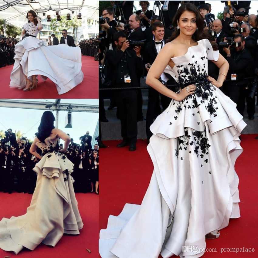 Personalise Red Carpet Dress Evening Dresses High Low White And