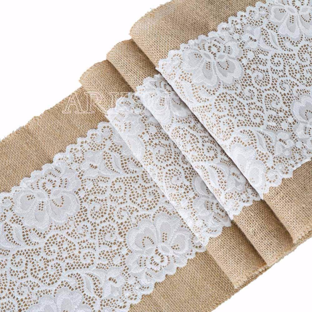 Lace Burlap Table Runner Wedding Party Table Decoration Solid Color Linen  Runners 30x180cm Black And White Table Runners Black Lace Table Runner From  ...