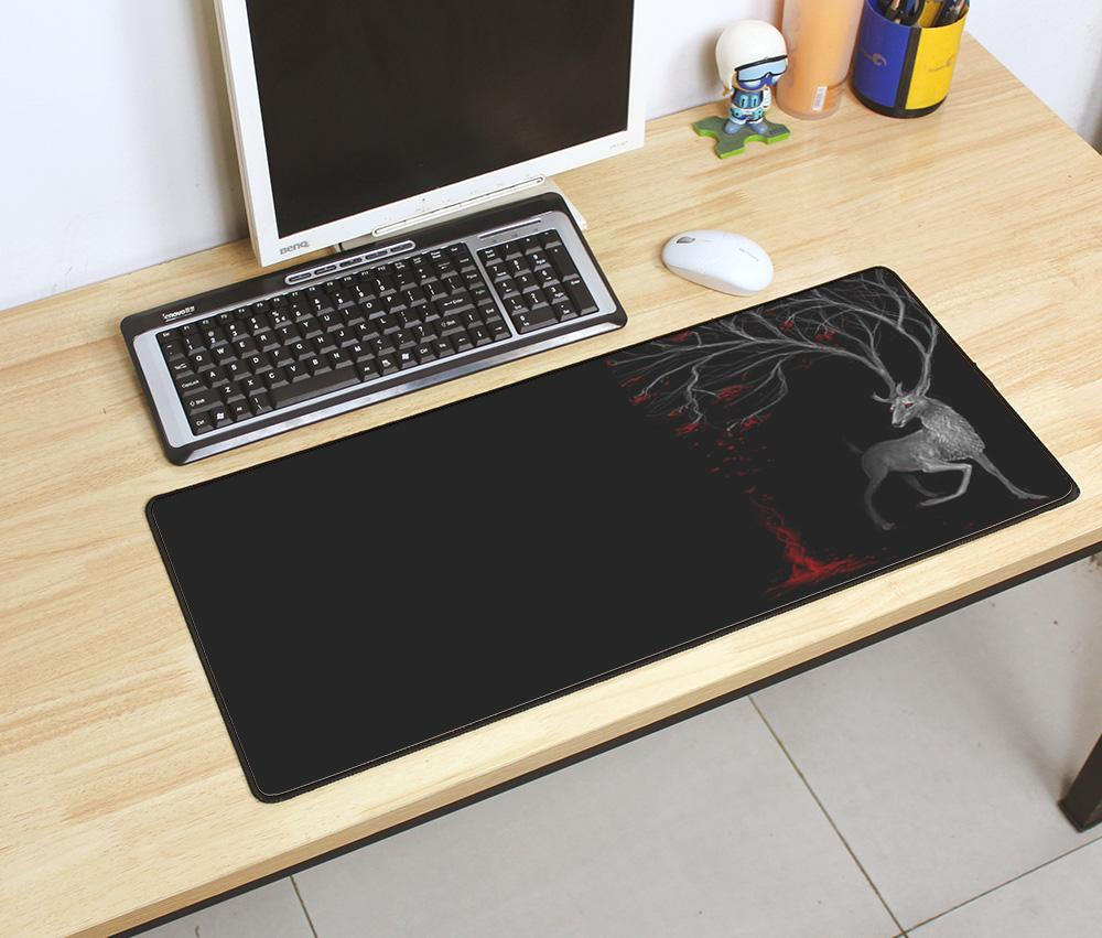 Best Mousepad 700x300x2mm Gaming Mouse Pad Big Gamer Mat High End Game Computer Desk Padmouse Keyboard Large Play Mats Puk Wrist Rest Red