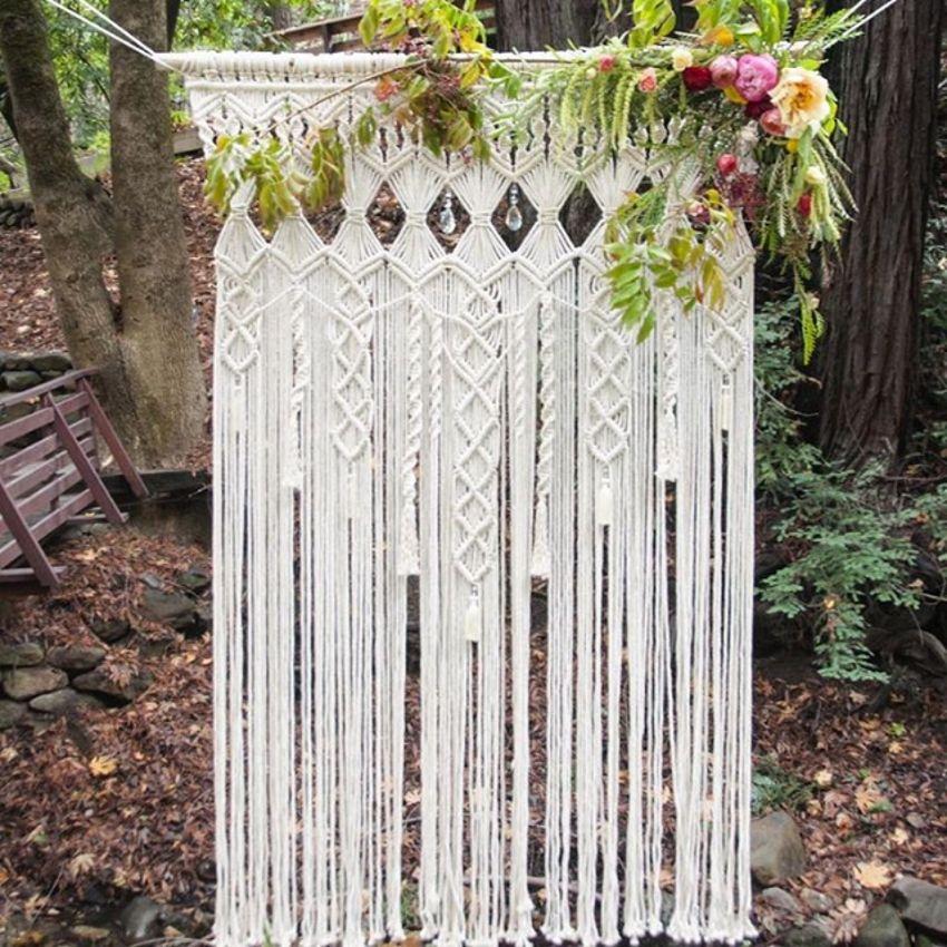 5 Bohemian Home Decor Ideas Rustic Folk Weddings: Macrame Wedding Decoration For Reception Boho Fiber