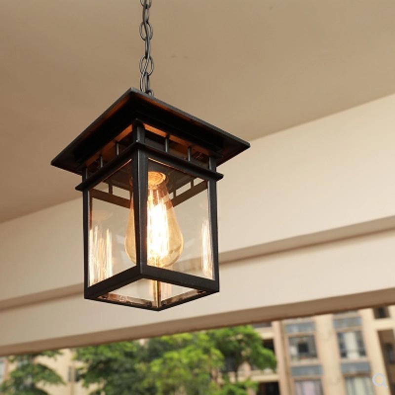 2019 Pendant Lamp European Simple Waterproof Rust Cinnamon Outdoor