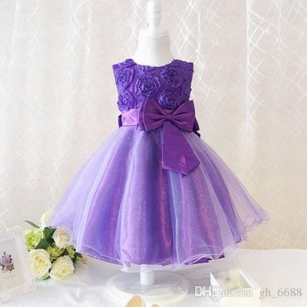 Nuevo vestido de niña de las flores de la princesa encantadora Pageant Prom Fiesta de cumpleaños Vestidos para ocasiones especiales vestido de los niños