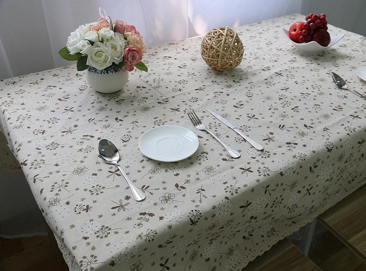 Helloyoung Dandelion Print Decorative Table Cloth Cotton Linen Lace  Tablecloth Dining Table Cover For Kitchen Home Decor Holiday Tablecloth  Black And White ...