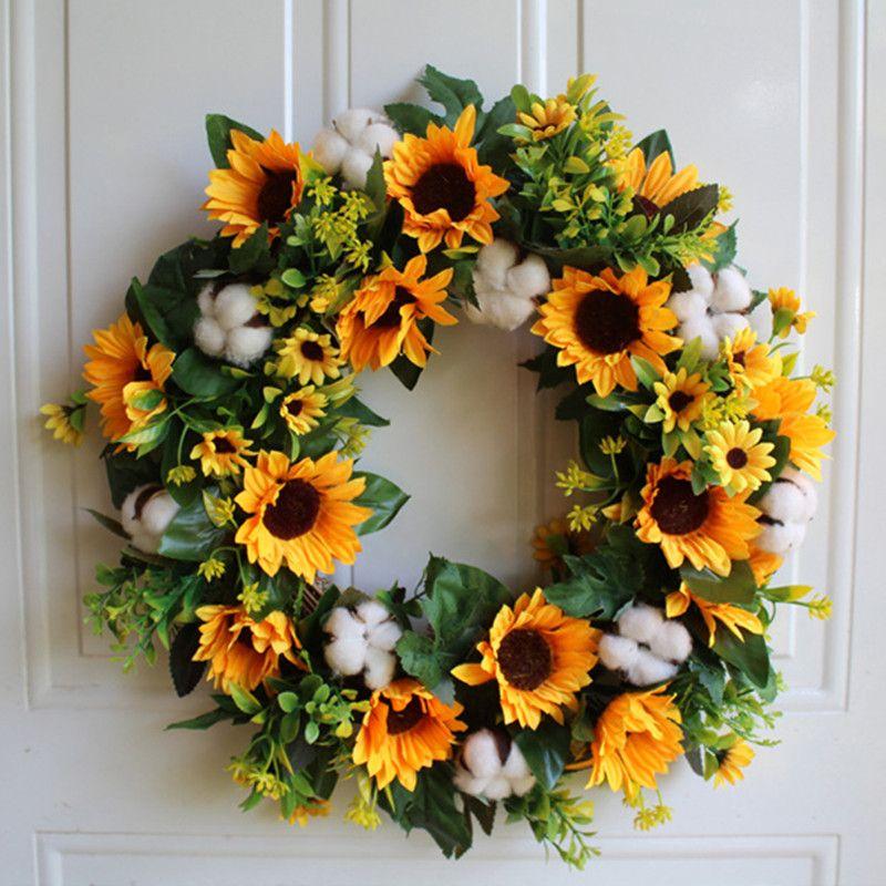 2019 Wedding Sunflower Home Decor Car Decoration Flower Silk Wreath Party Supplies From Suozhi1996 4805