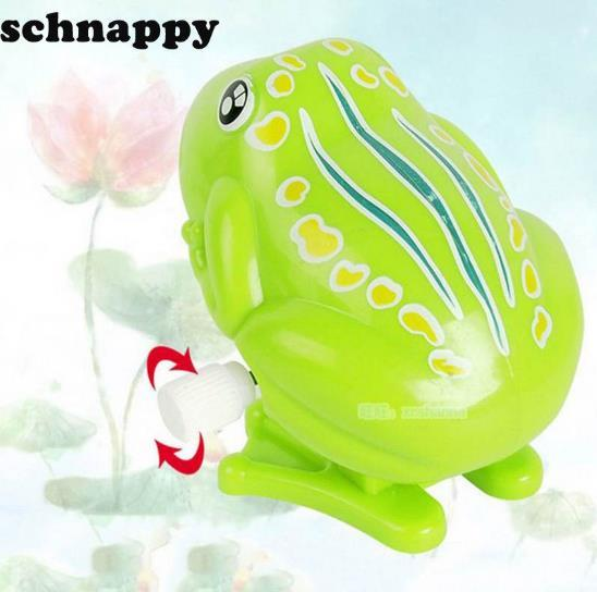 Kids Wind Up Clockwork Toy Mini Cute Jumping Frog Baby Toys Pull Back Wind Up Toys