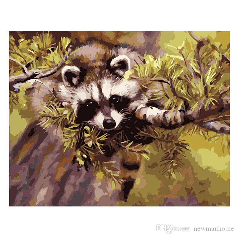 Diy Oil Painting Kit Draw By Number Digit Painting Do By Yourself 40cm 50cm Complete Tool Panda Animal Room Wall Decoration Funny Accurate