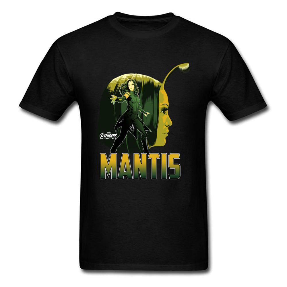 01f323ab80 Maglietta di profilo di Infinity War Mantis Maglietta nera per uomo manica  corta Top sconto Tee 100% cotone T Shirt abiti amante su misura