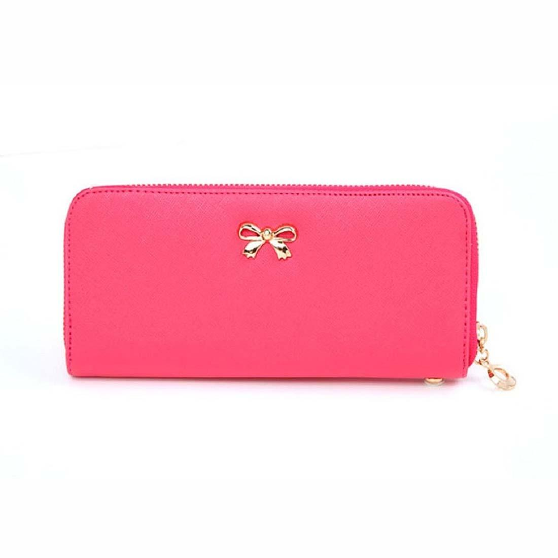 a2b5f3fea55e HEBA Fashion Korean Cute Bowknot Purse Solid Wearable Wallet for ...