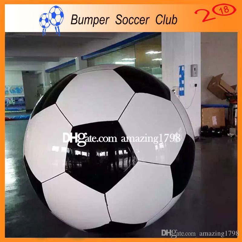 Livraison gratuite pompe à pied ballon de football gonflable jouets balle géant jouets de sport en plein air gonflé ballon en plastique gonflable soccer volley
