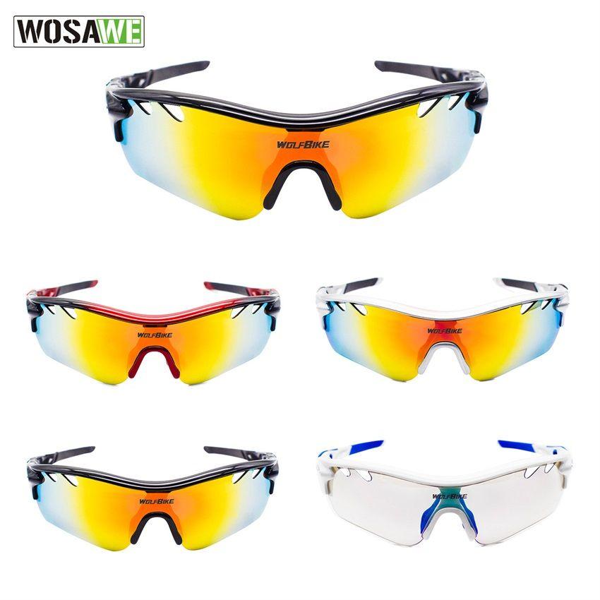 792f3d13a1143 Compre WOSAWE 5 Lentes Mudança Lente Polarizada UV400 Óculos De Sol Do  Esporte Dos Homens Do Esporte Ao Ar Livre Mountain Bike MTB Bicicleta  Óculos Óculos ...