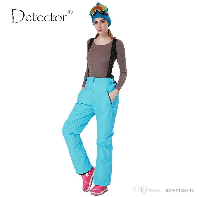 2e60af9c354f4 2019 Detector 35 Degree Snow Pants Plus Size Elastic Waist Lady Trousers  Winter Skating Pants Skiing Outdoor Ski Pants For Women From Htsportsstore