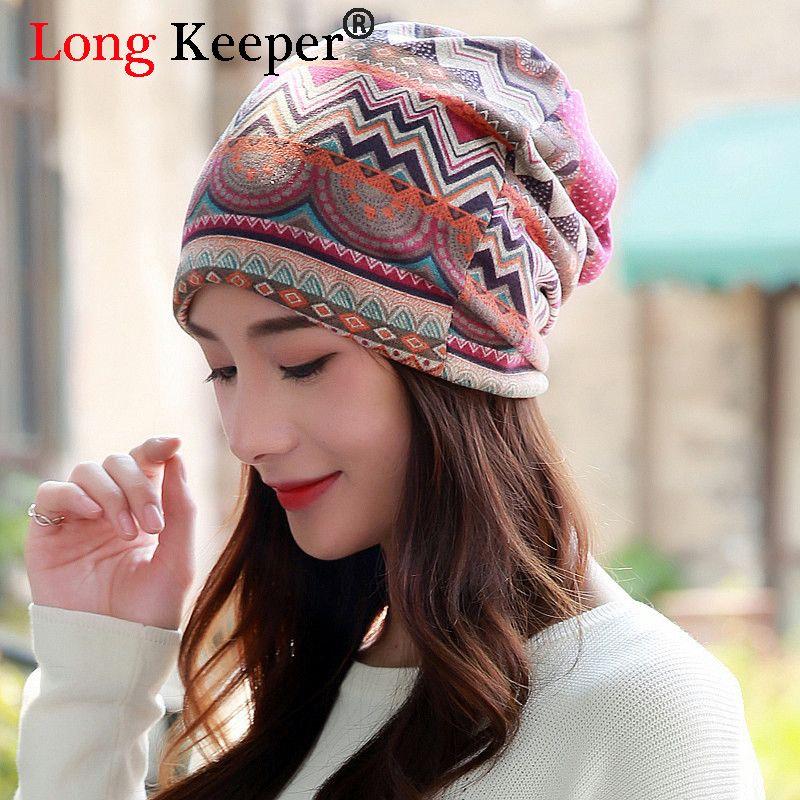 5308fa0c6bf Spring Autumn Winter Women Hat Scarf Fashion Wave Stripes Ladies Beanies  Cotton Cap Circle Beanie Straw Hat Baseball Cap From Saucy
