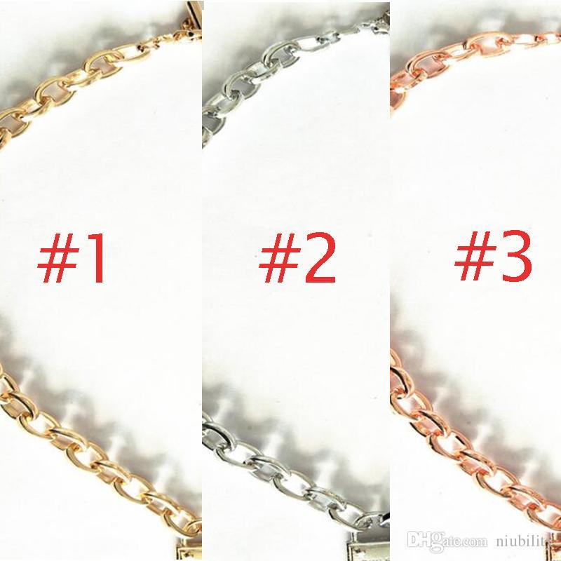 Gran marca de lujo MK pulsera m serie aleación cerradura collar corto selección de color para hombre y mujer por niubility