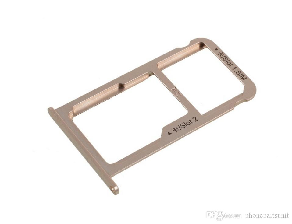 Original New Nano SIM Card Tray Micro SD Card Holder Slot Adapter Parts For Huawei P10 Plus VKY-L09 Assembly Parts