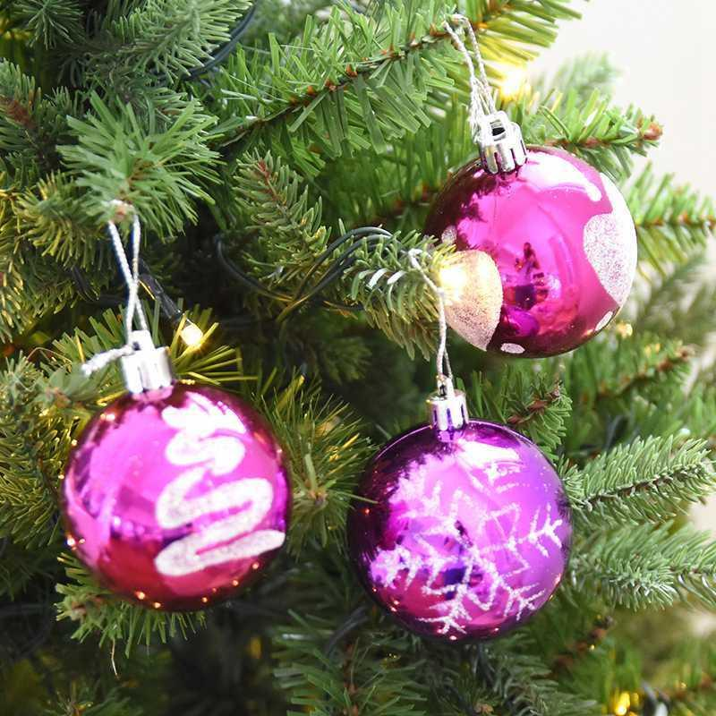 2018 New Year Party Supplies 6cm Christmas Balls Plastic Ball