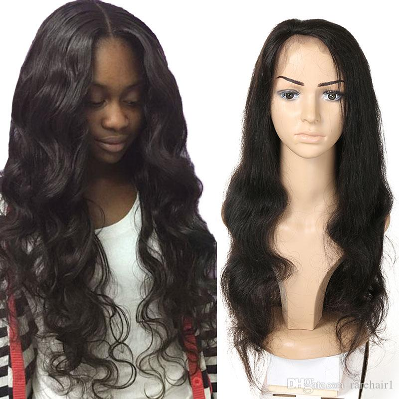 Brazilian Virgin Hair Lace Front Wigs Body Wave Human Hair Wigs with ... 34a137441