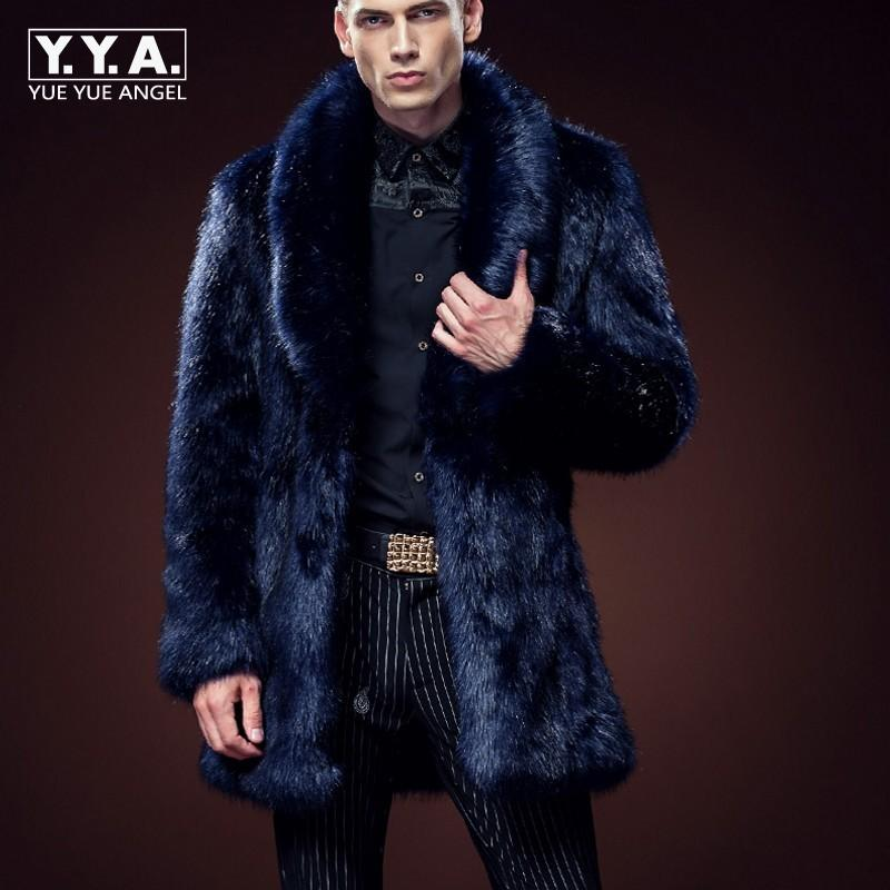 Acquista Inverno Cappotto Moda Uomo Caldo Volpe Pelliccia Faux Di gxFgwdr