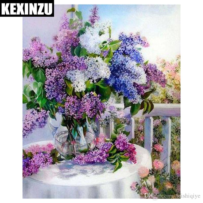 KEXINZU 5d diy flower diamond painting cross stitch kits diamond embroidery flower basket picture mosaic pattern home decor GIFT