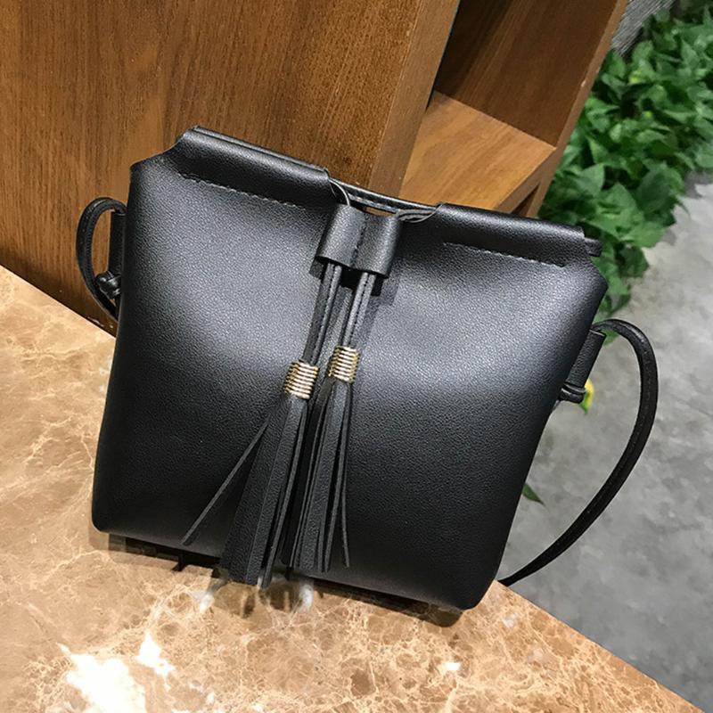 Omen Shoulder Bag Bucket Tassels Women Shoulder Bags Pu Leather Bucket  Tassels Crossbody Bags Sling Handbags Female Fashion Simple Casual. 9ac84e7a0ea1b