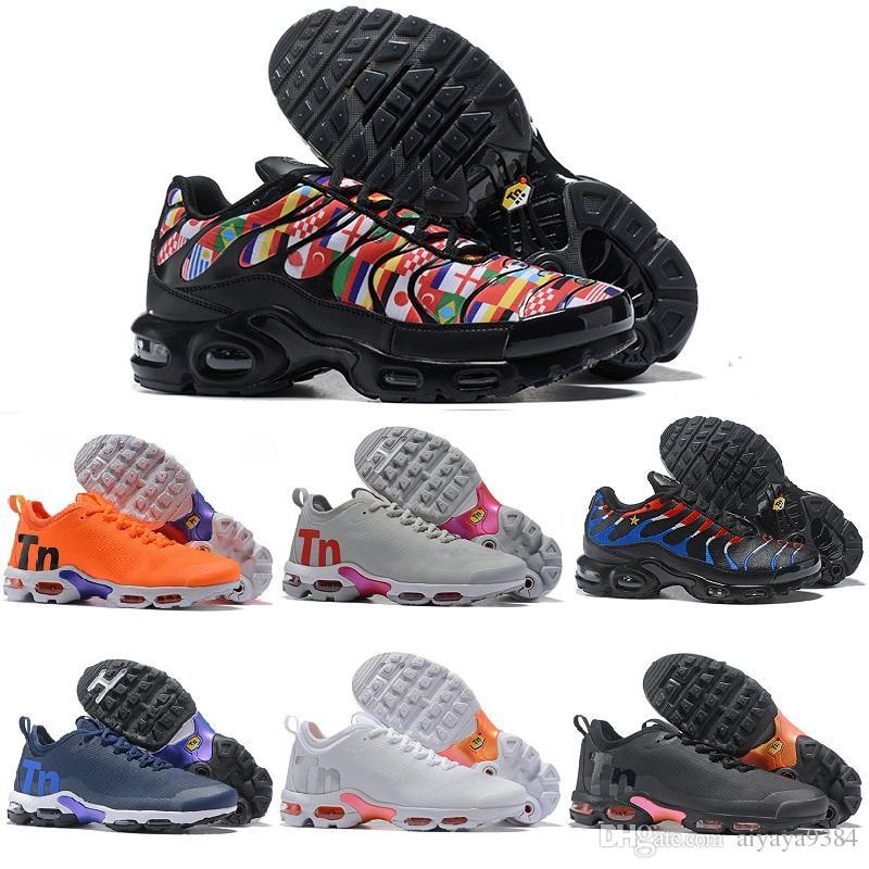 614d36f4dc1141 2018 New Mercuial TN Plus TE 2 Designer Brand Running Shoes Tns Ultra  Sports Women Men Maxes Chaussures Trainger Designer Air Sneakers Mercuial TN  PLUS TE ...