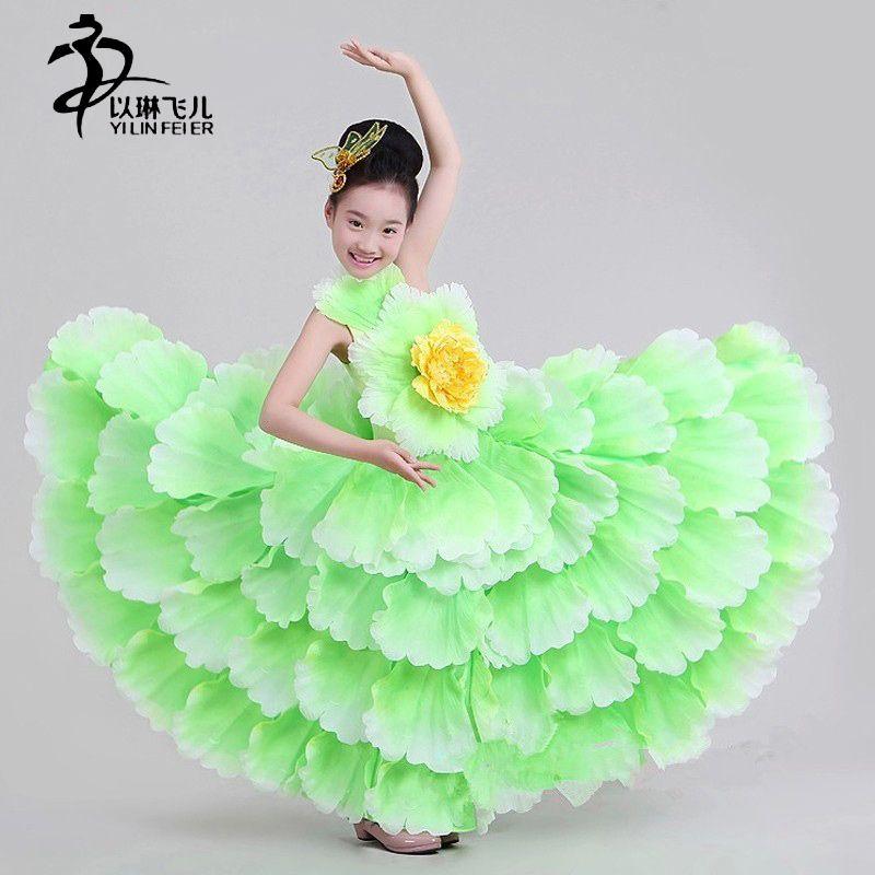 Acquista Vestito Da Flamenco Da Bambina   Costume Da Ballerina Spagnola  Bambini Sexy Ballerina Di Flamenco   Vestito Da Ballo Bambina A  54.26 Dal  Primali ... d13d46ea241