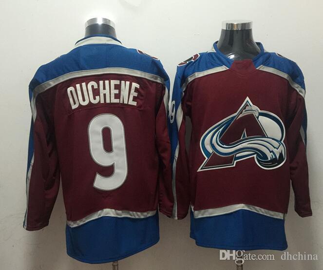 New Avalanche Jerseys  9 Duchene 2018 New Hockey Jerseys Burgundy ... 0dd2c06b8