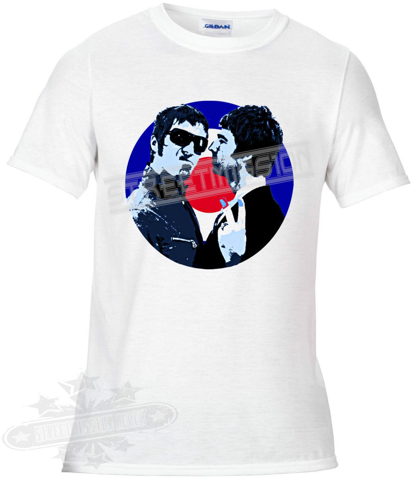 dfbbf86e3c1a5 Details Zu Liam Gallagher Noel Gallagher Oasis Mod Target T Shirt Music  Band Tribute Funny Free Moto Shirts Tee T Shirts From Lukehappy13
