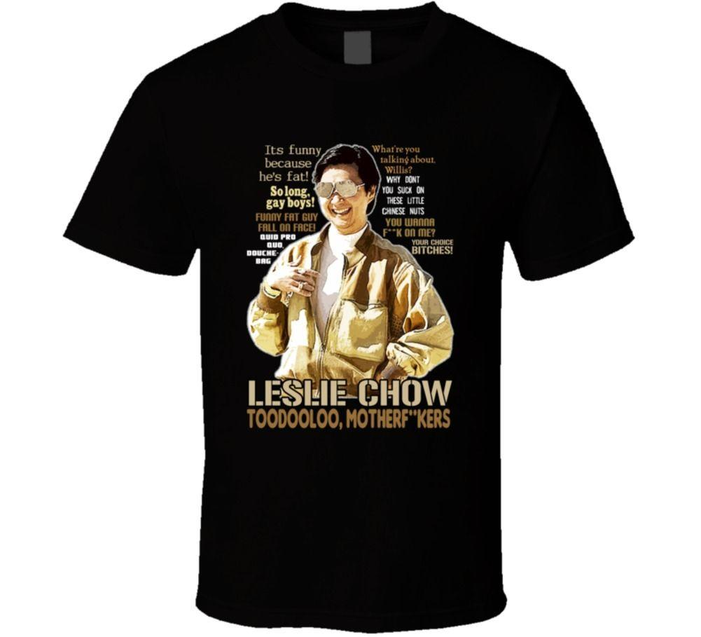 Leslie Chow The Hangover Quotes Funny Fan T Shirt